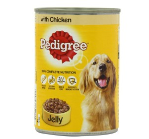Pedigree Dog Can With Chicken in Jelly