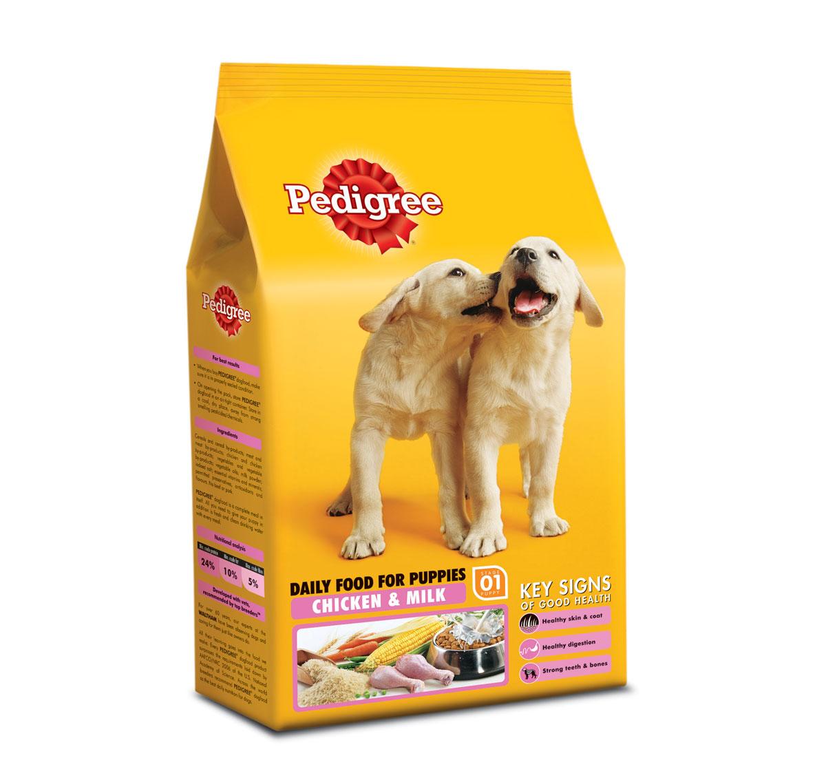 Pedigree Dog Food Puppy Chicken Milk Dog Bazar