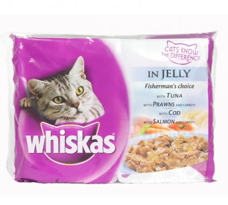 Whiskas Adult Cat Food In Jelly Multi Pouches
