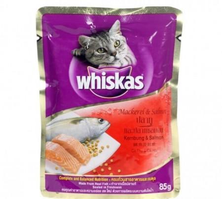 Whiskas Cat Adult Food Mackerel & Salmon