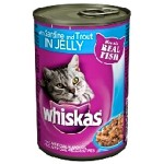 Whiskas Cat Can Food Trout & Sardine Chunks in Jelly